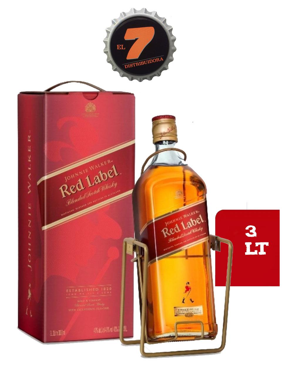 Johnnie Walker Red Label 3 Litros Edición Especial