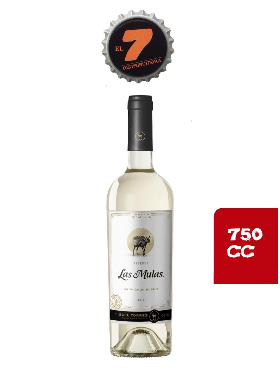 Vino Las Mulas Sauvignon Blanc 750 CC