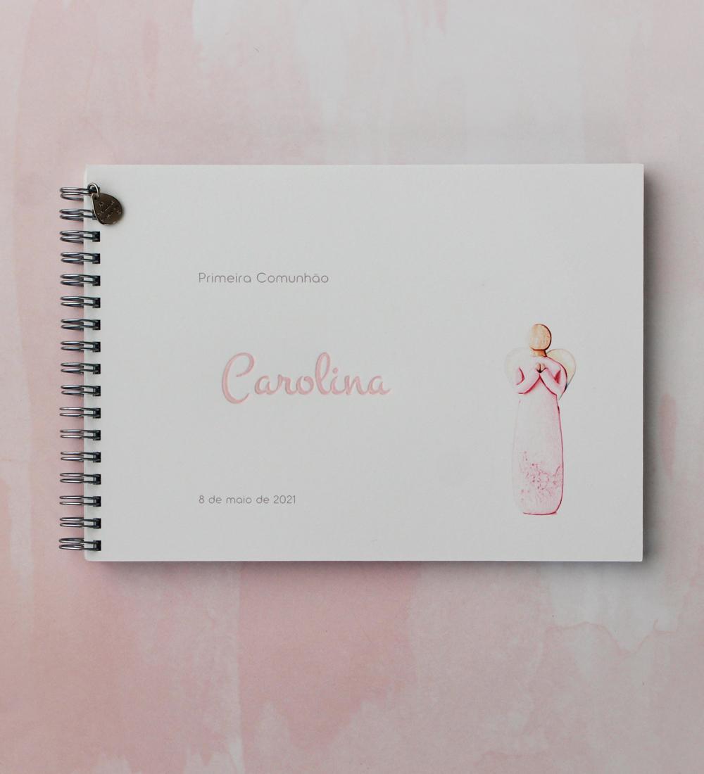 Caderno de mensagens com anjo da paz