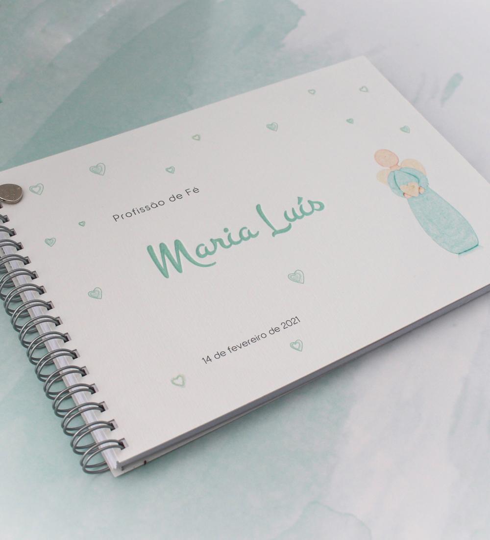 Caderno de mensagens personalizado