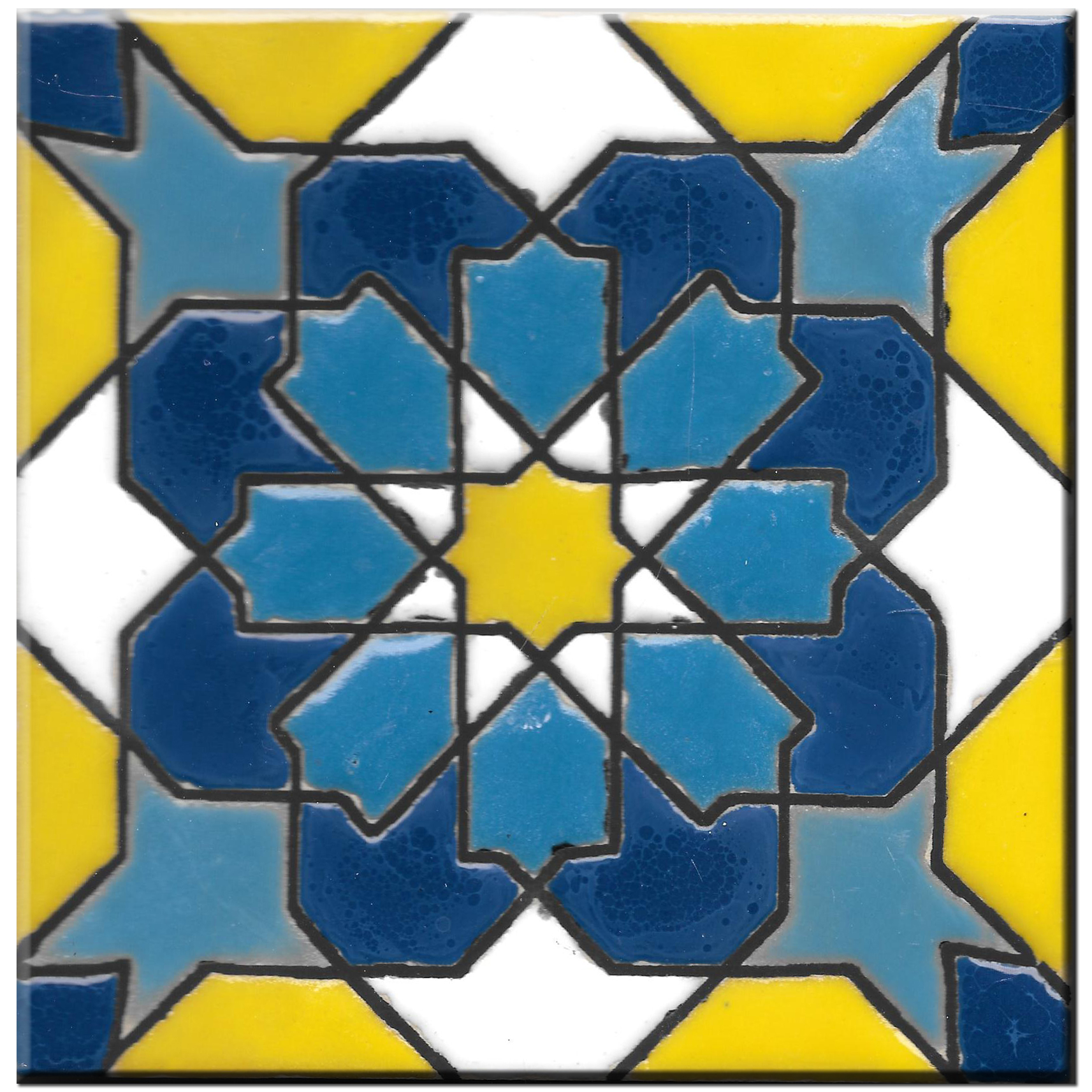 Handmade tile 14x14cm - Spanish Arabic 1 - Color A