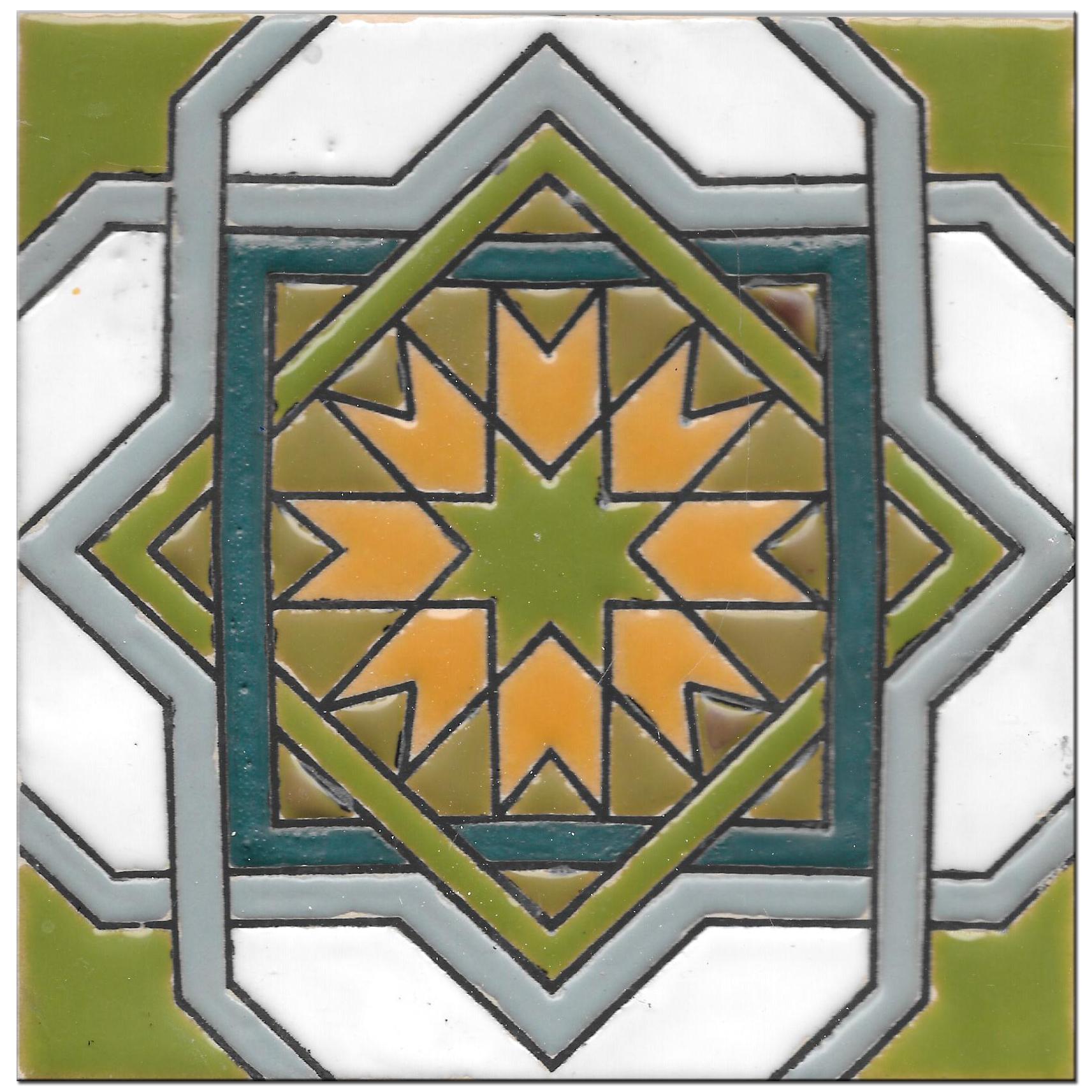 Carrelage à la main 14x14cm - Hispanic Arabic 3 - Color B