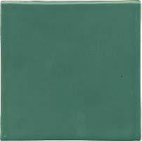 Azulejo feito à mão - Cor  Verde Jade