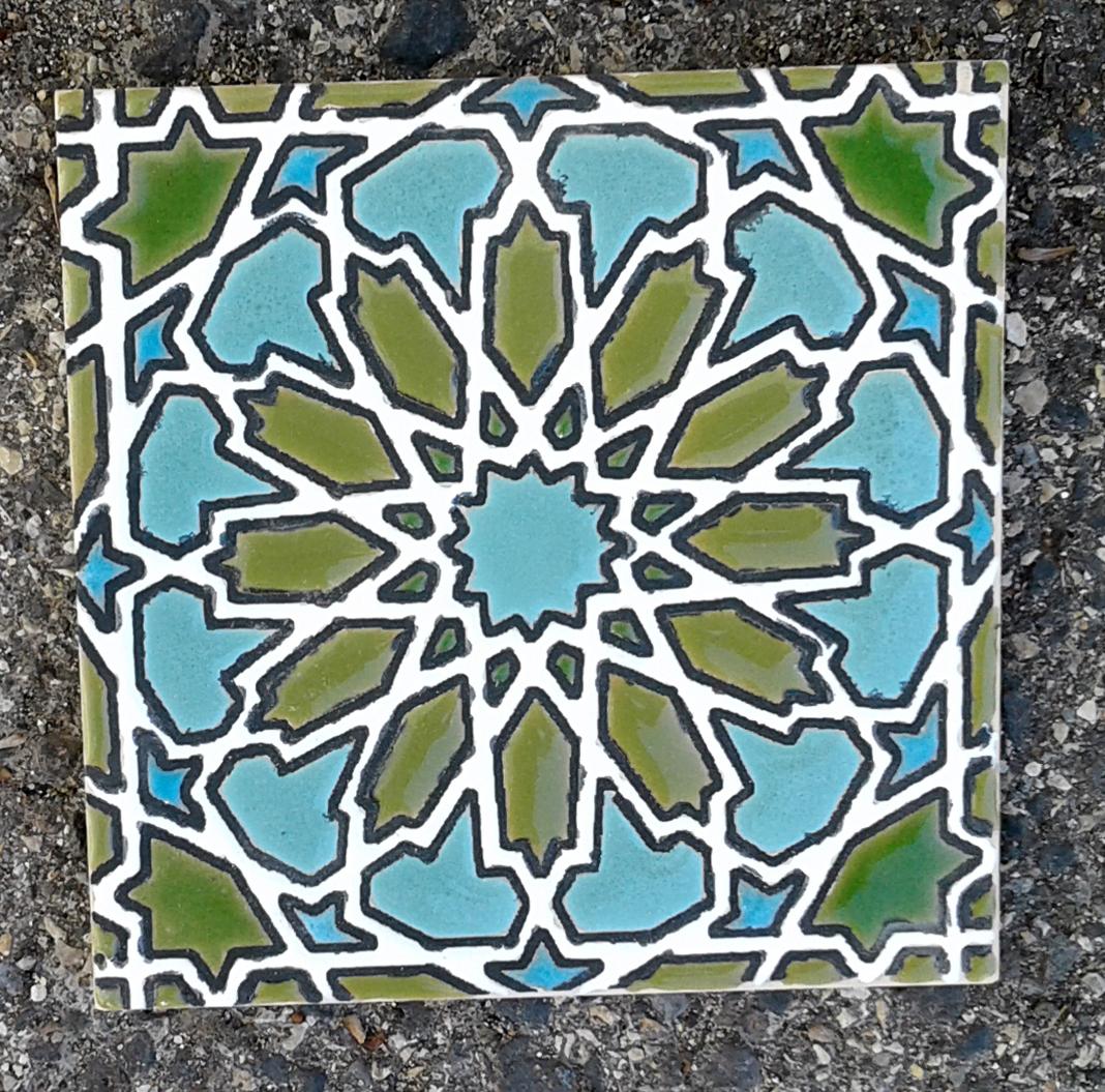 Handmade tile 14x14cm - BB