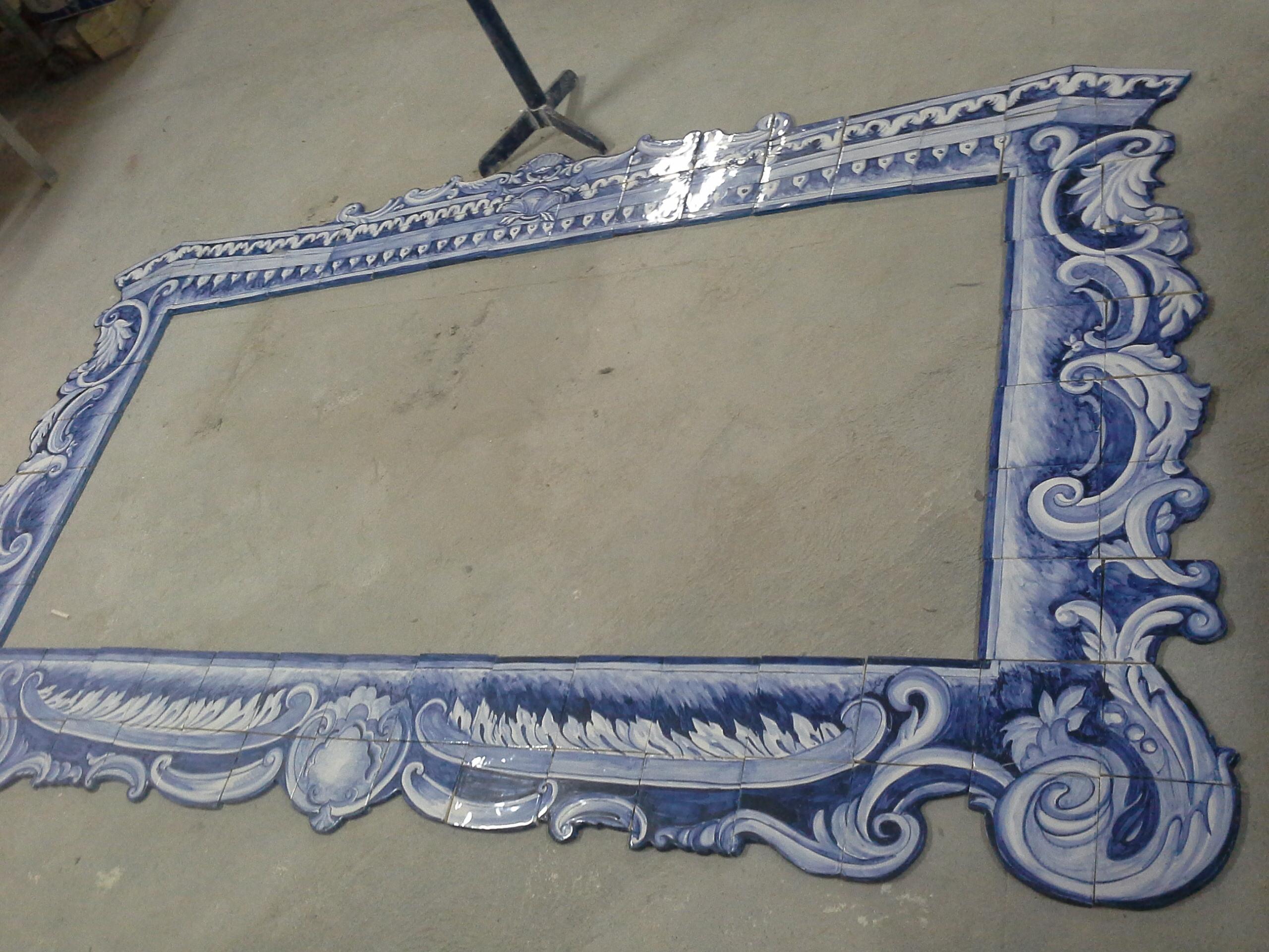 Frame II - handmade cut tiles