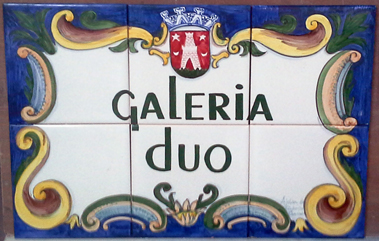 Color Tile Panel with text