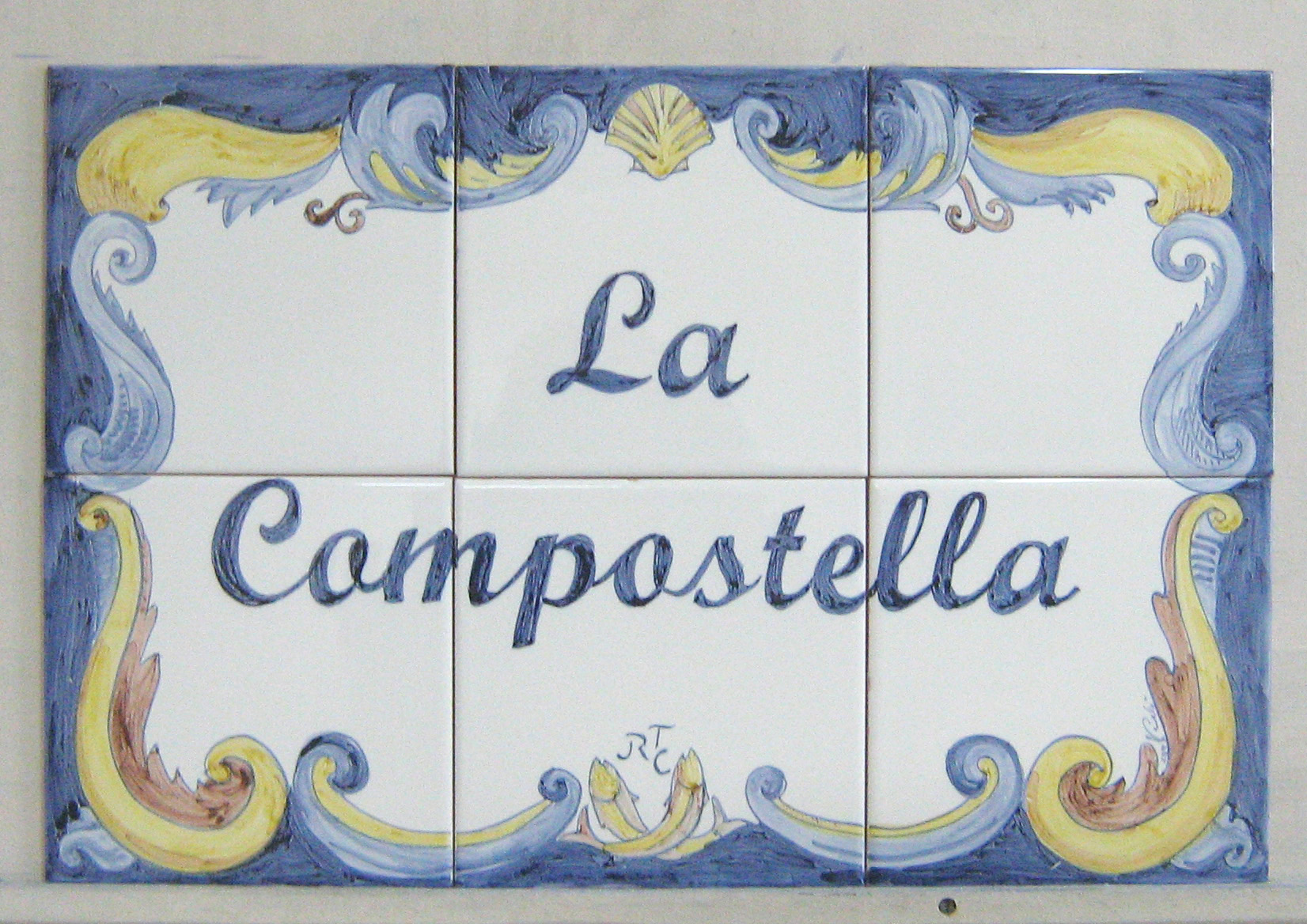 Large tile Panel with text
