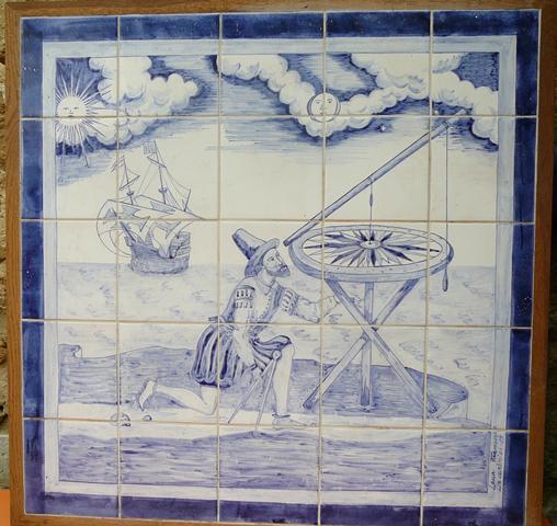 "Tile Panel ""Watching the sky"""