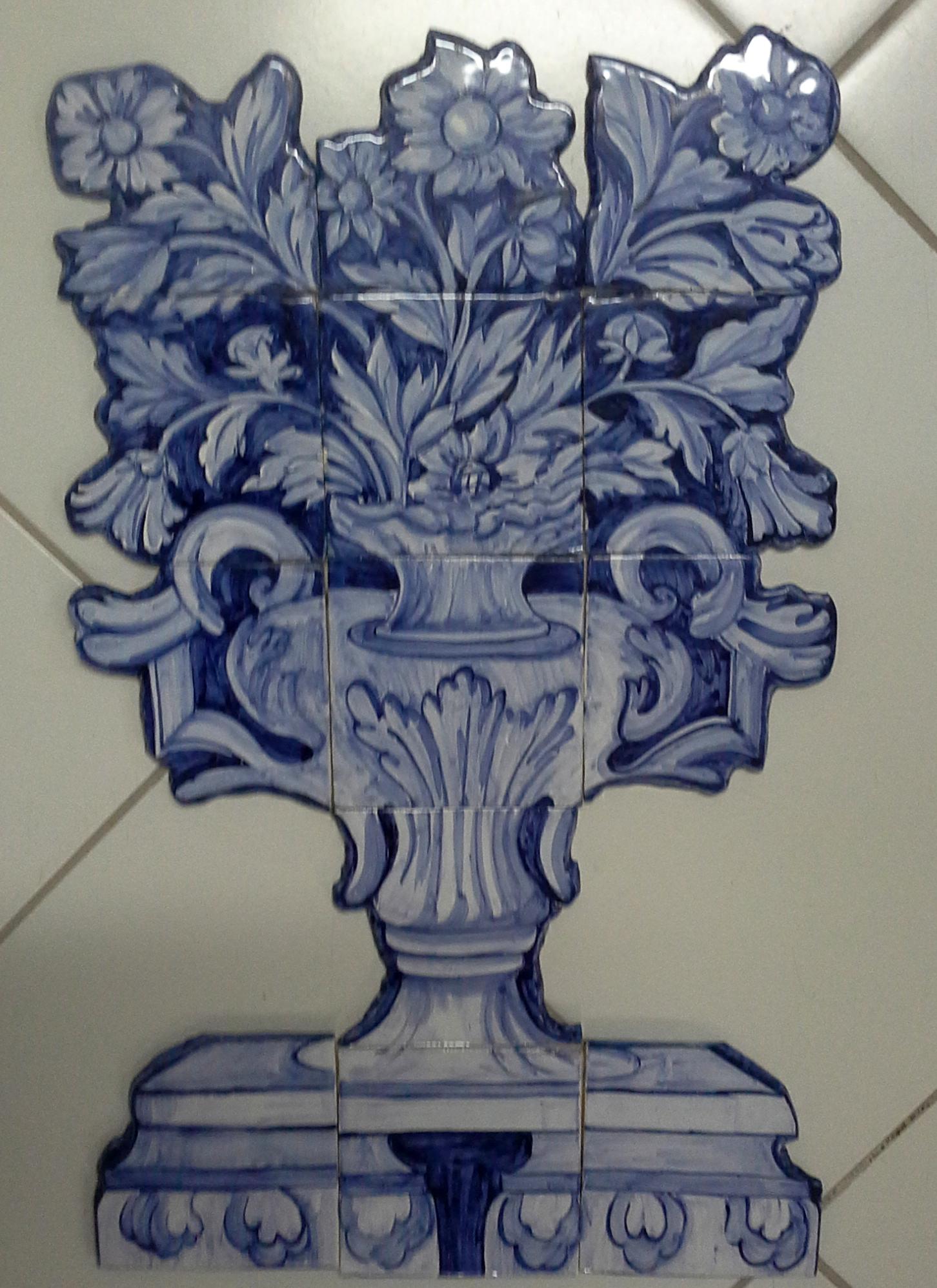 Panneau de tuile couper fleurs grand panier