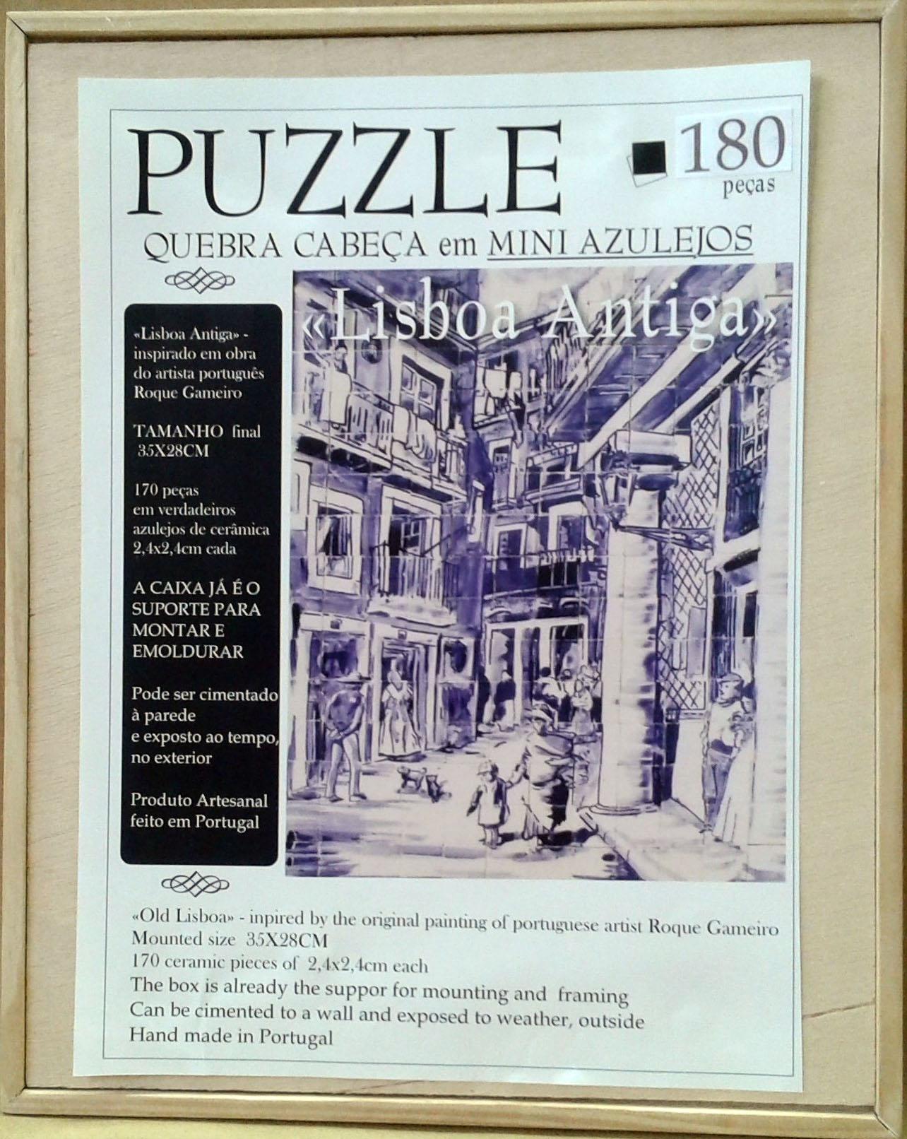 CERAMIC PUZZLE - ANCIENT LISBON