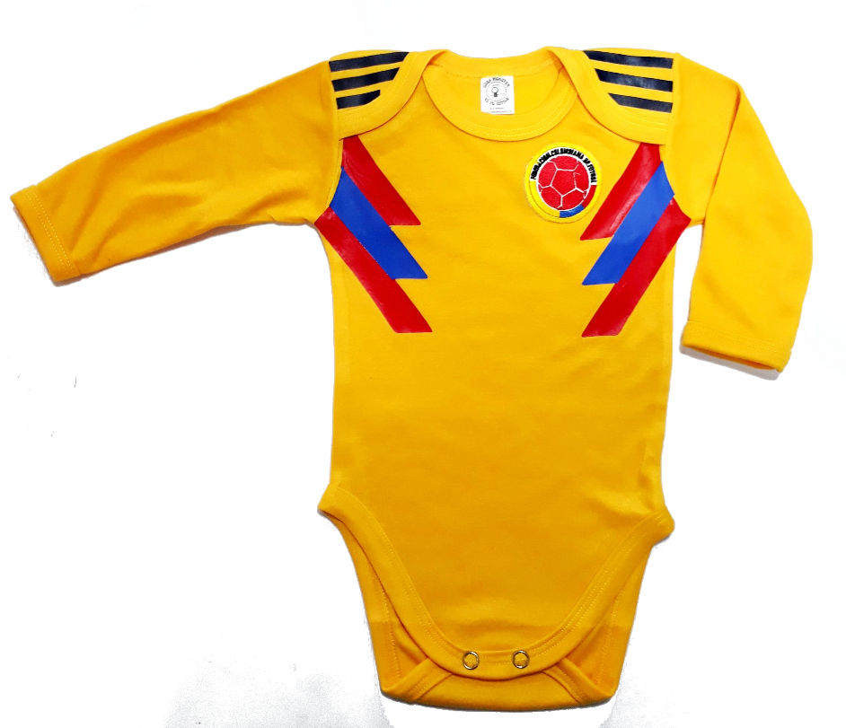 Body Bodie Para Bebe Futbol Seleccion Colombia Manga Larga