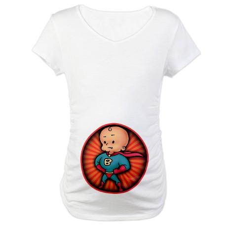 Camiseta De Mujer Embarazada Moderna Baby Monster
