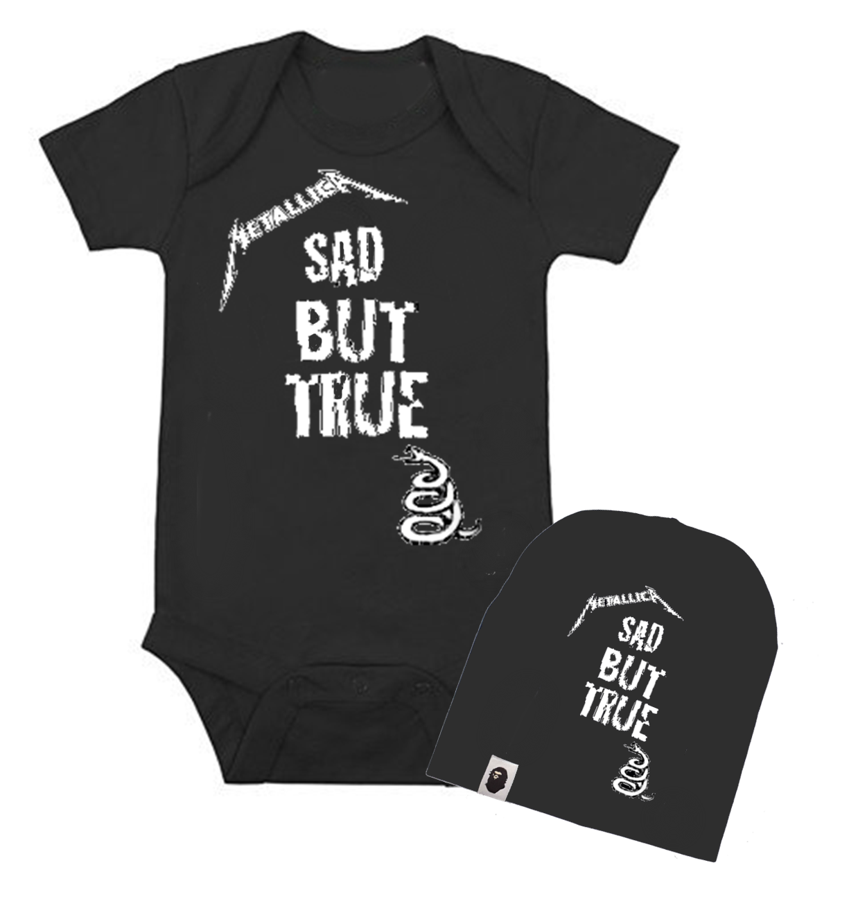 set ropa para bebe rock metallica sad but true - Baby monster​​​