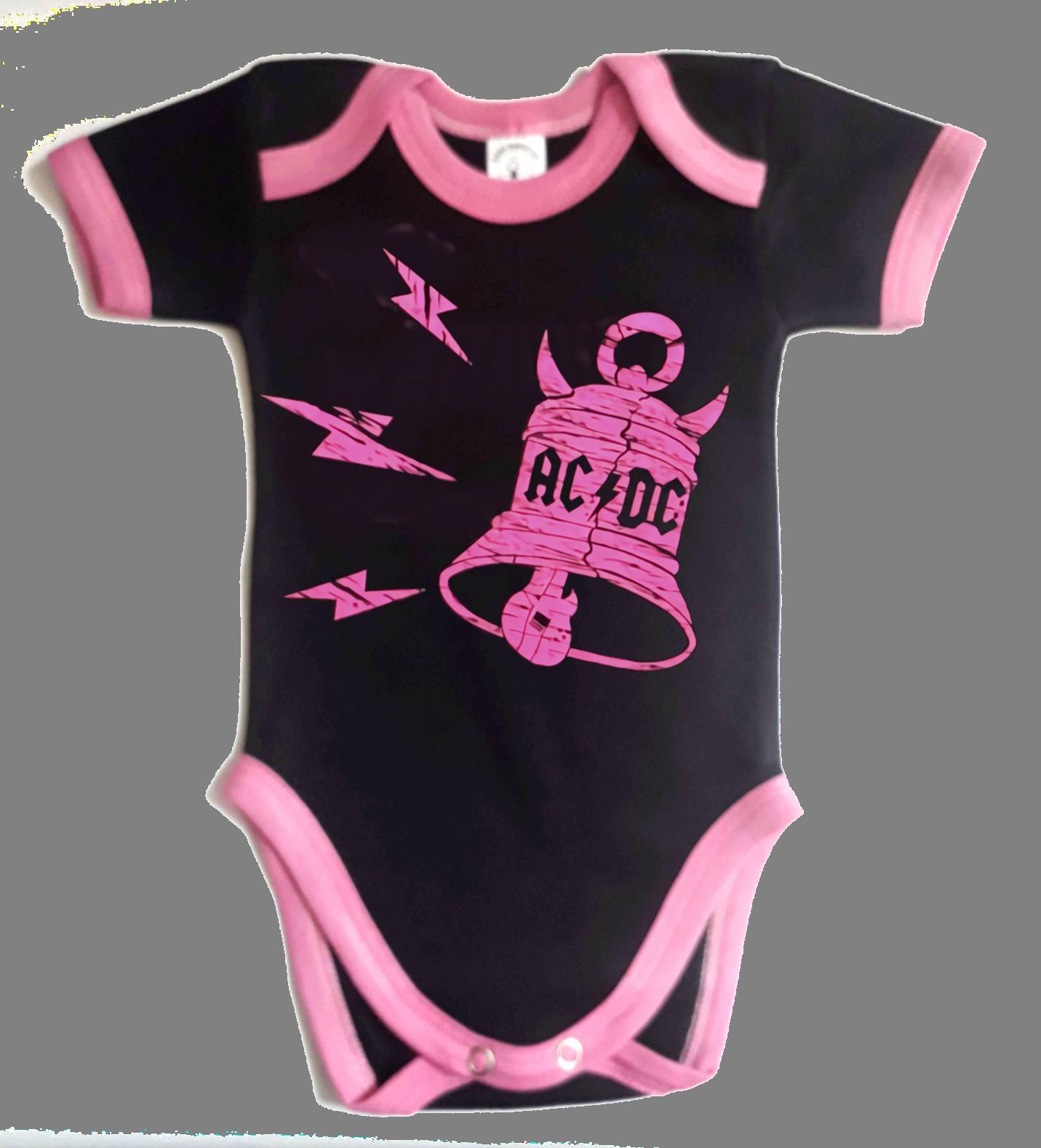 Ropa Bebe Body Bodi rock AC/DC bells  Baby Monster