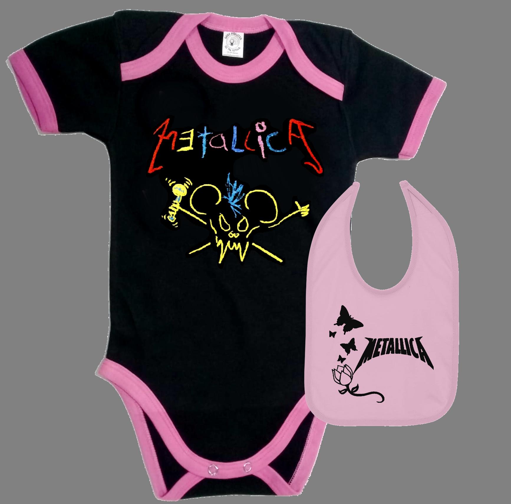 set ropa para bebe rock metallica crayola - Baby monster