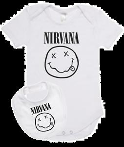 set ropa para bebe rock Nirvana - Baby monster