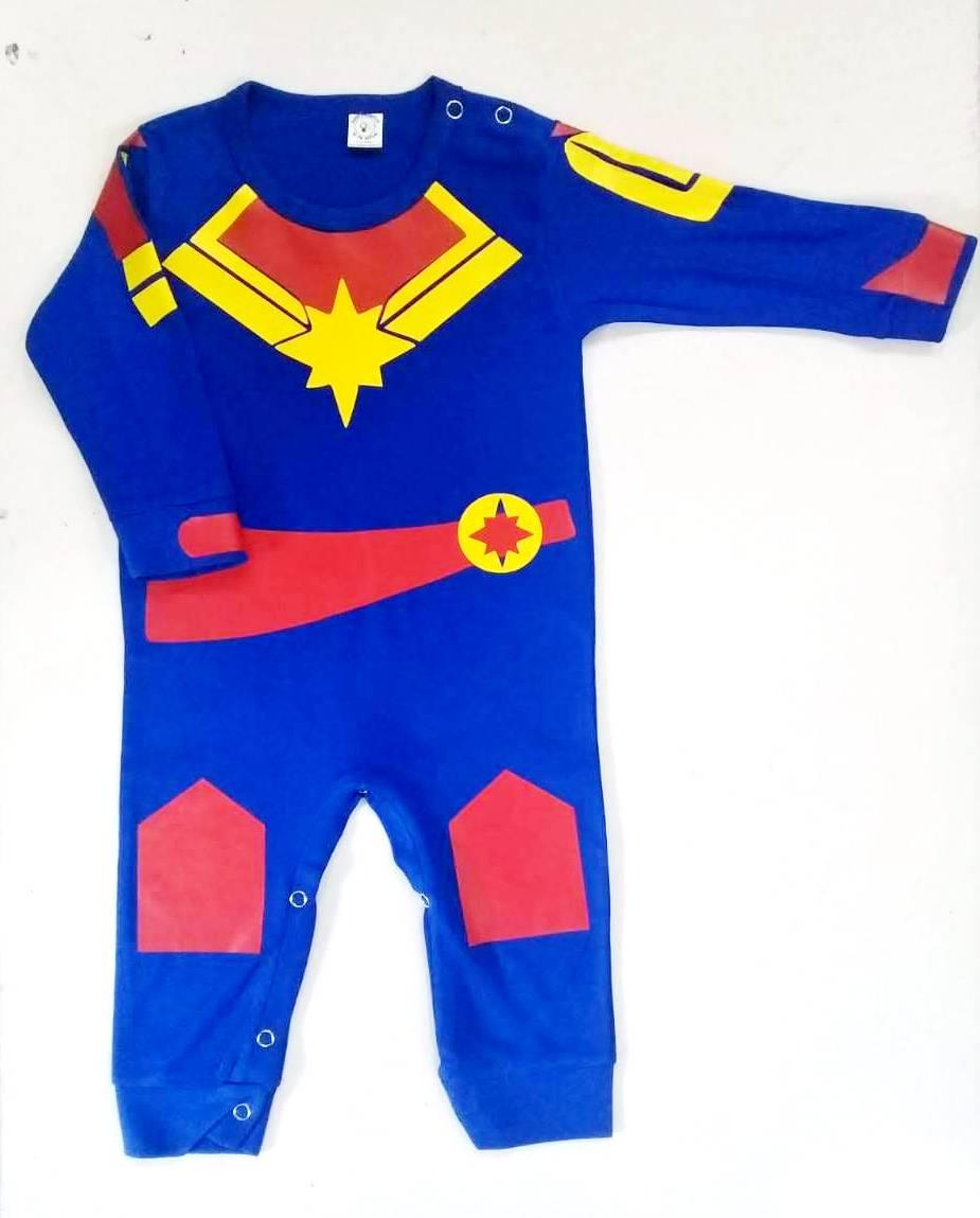 Ropa para bebe pijama Capitana marvel  baby monster