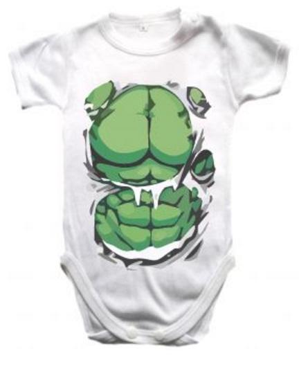 Ropa Para Bebe Body Bodie hulk super heroe Baby Monster
