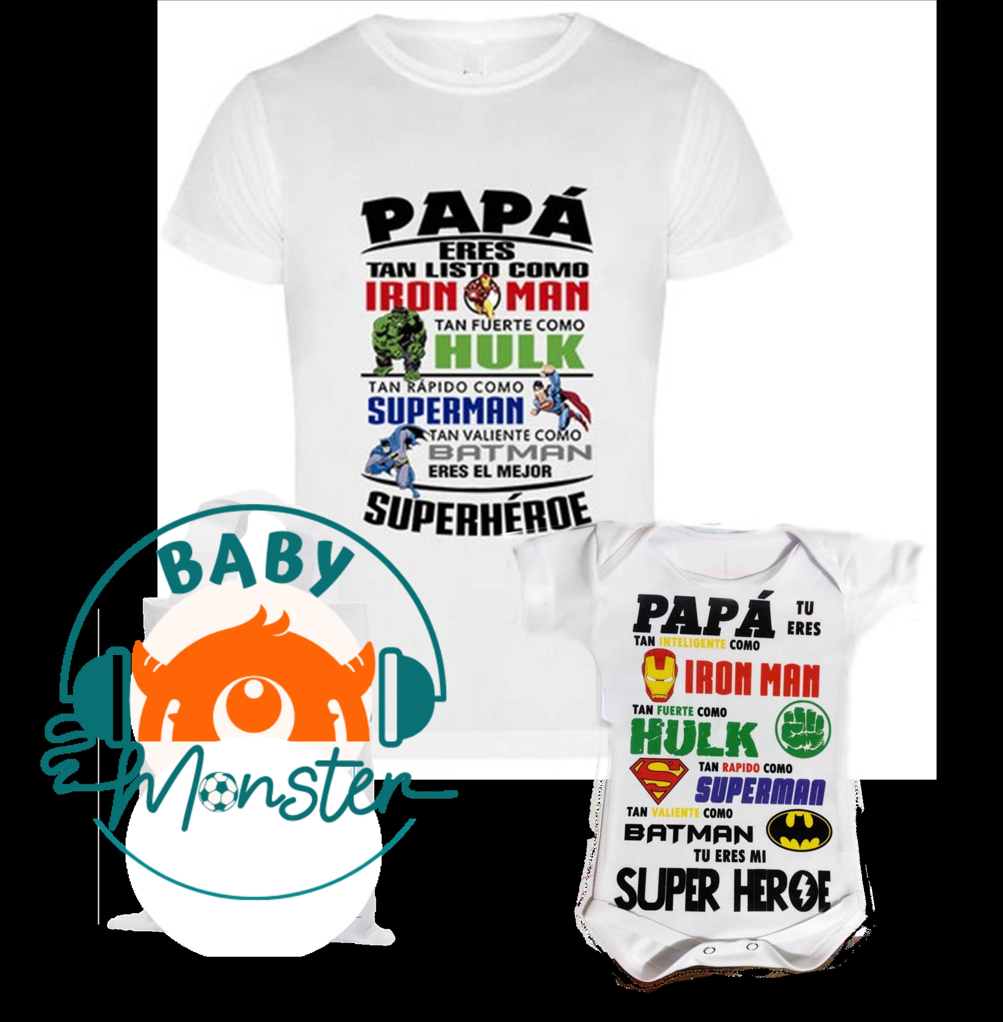 body kit bebe y Papá  Feliz  día del padre geek