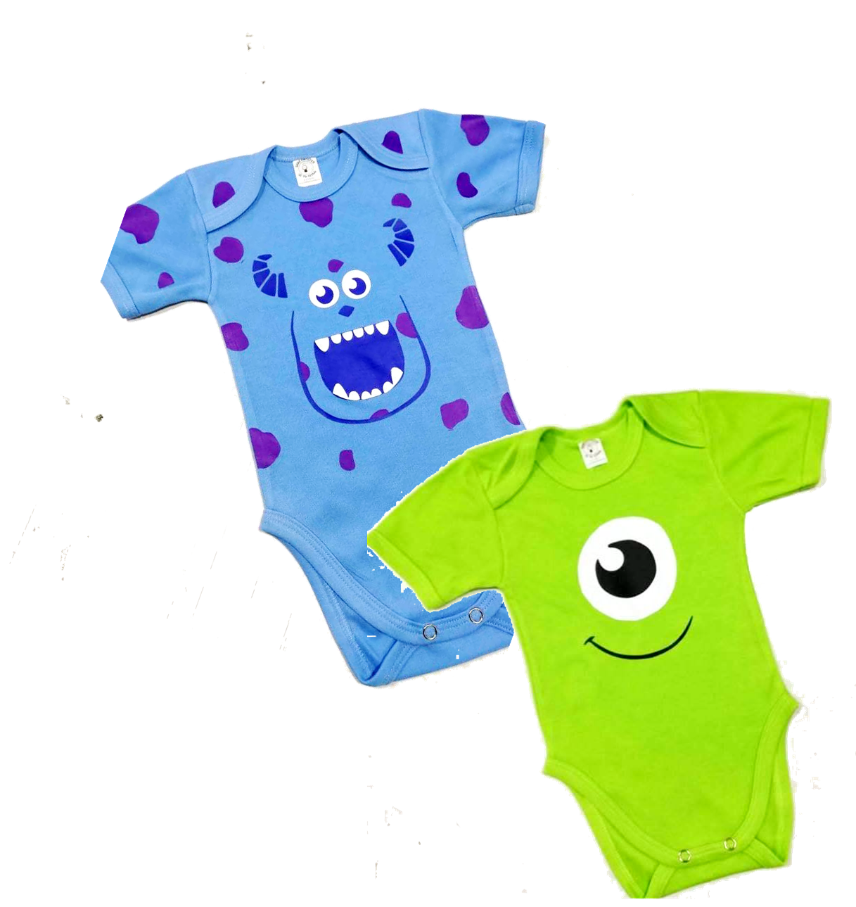 Bodys para bebe Monster Inc. sullivan y mike