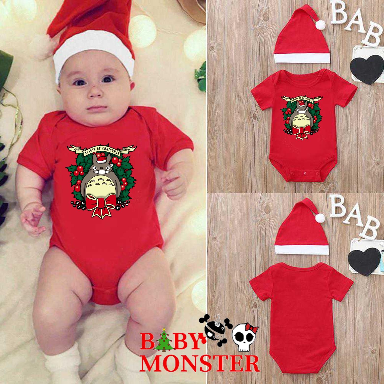 Ropa Bebe Body Bodi Navidad totoro Baby Monster