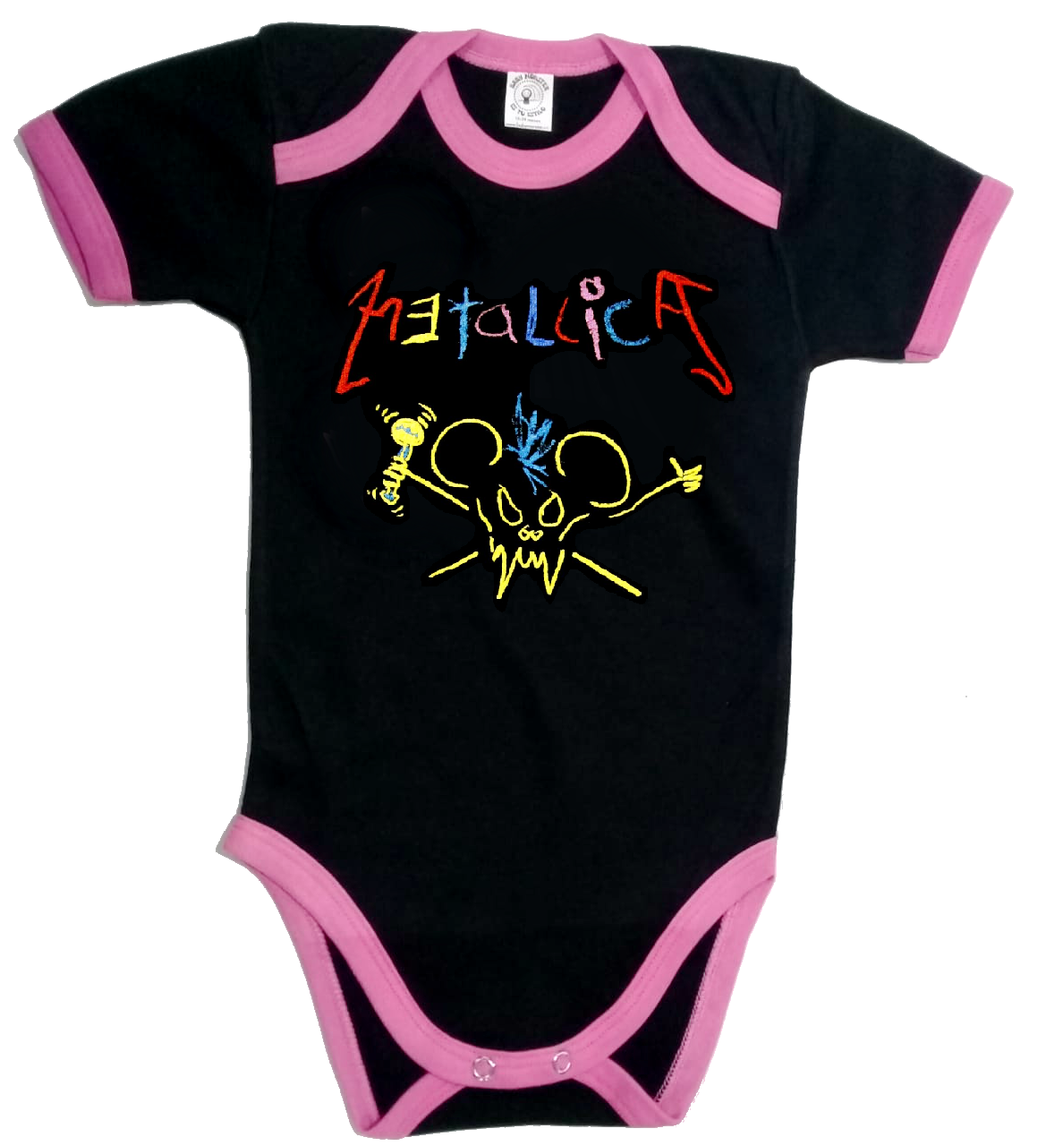 Ropa Bebe Body Bodie rock metallica crayola Baby Monster