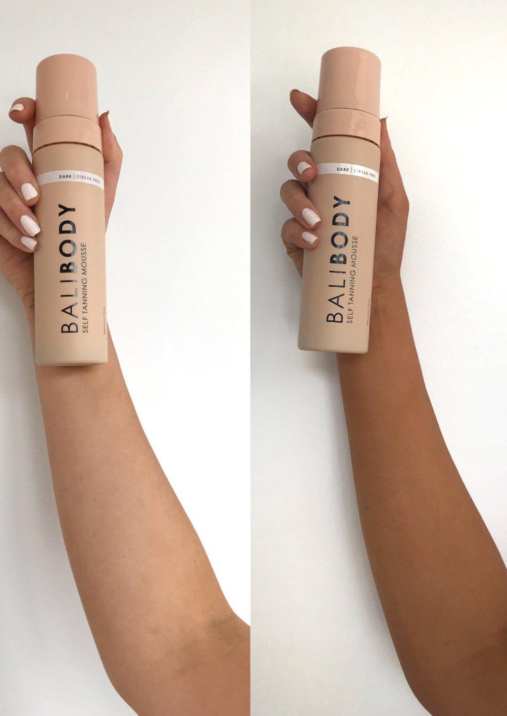Self Tanning Mousse - Antes y Después