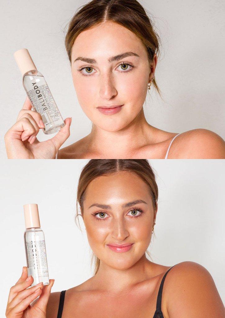 Face Tan Water - Antes y Después