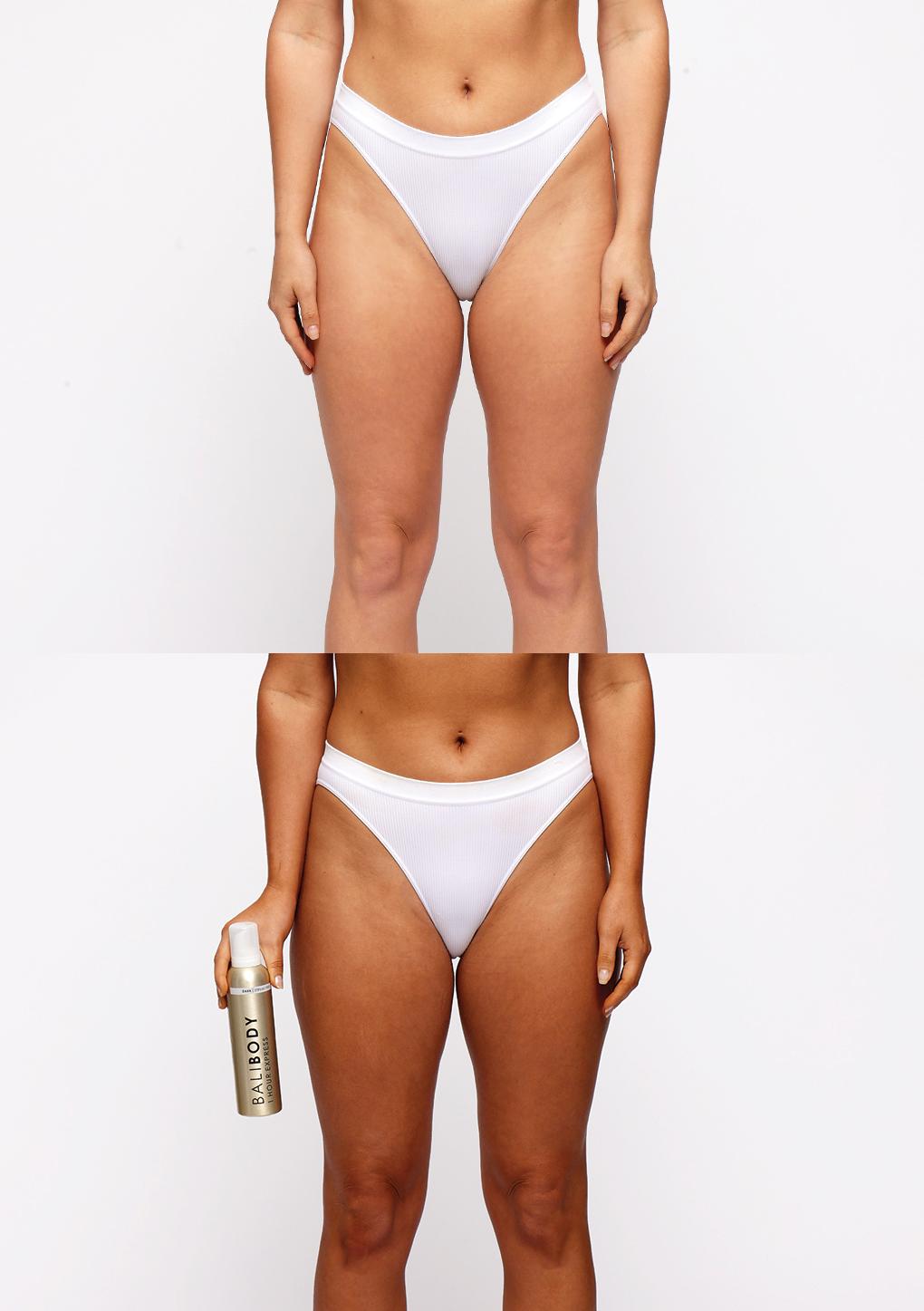 1-Hour Express Self Tan - Antes y Después