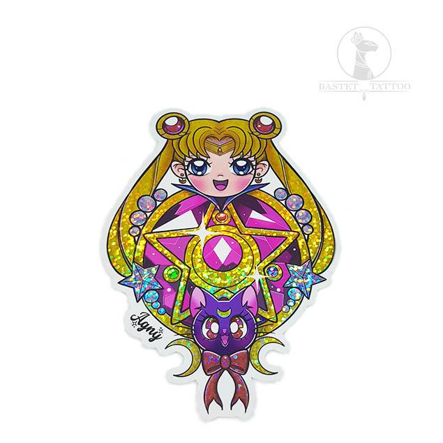 Sitcker Holografico Sailor Moon