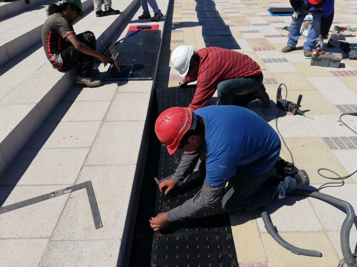 Borde Costero de Tongoy instala Paneles Podotáctiles Ada Solutions