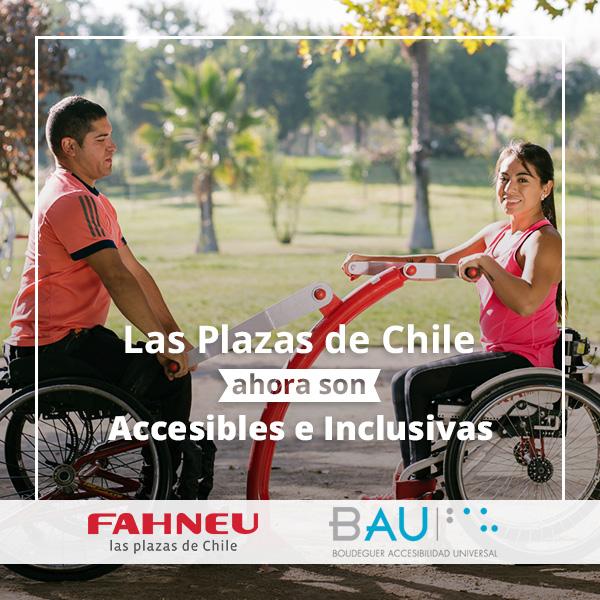 BAU Accesibilidad y Fahneu trabajan juntos para que las plazas de Chile sean accesibles e inclusivas