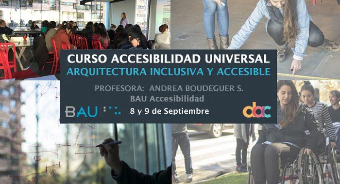 Nueva fecha Curso Arquitectura Inclusiva y Accesible junto a DAC – 8 y 9 de Septiembre