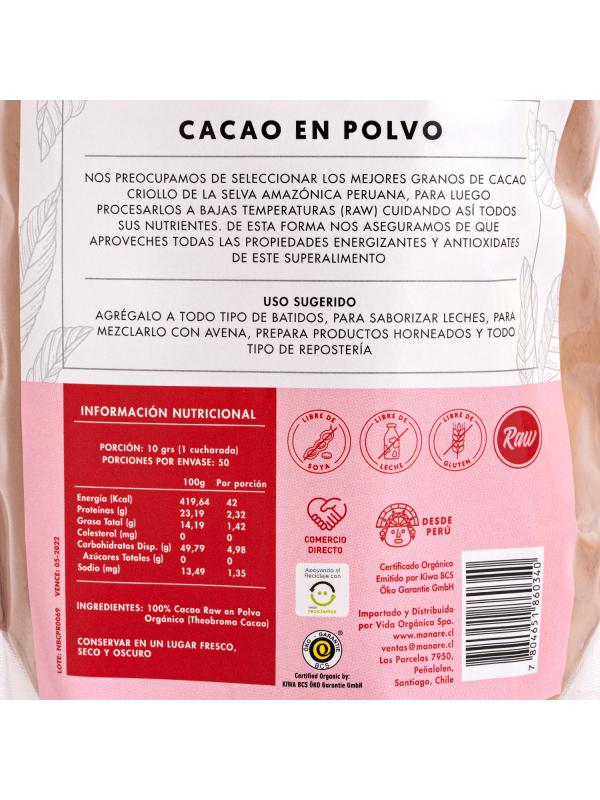 Cacao Orgánico 500GR