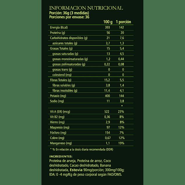 PROTEINA VEGETAL CHOCOLATE 1,320 KGR