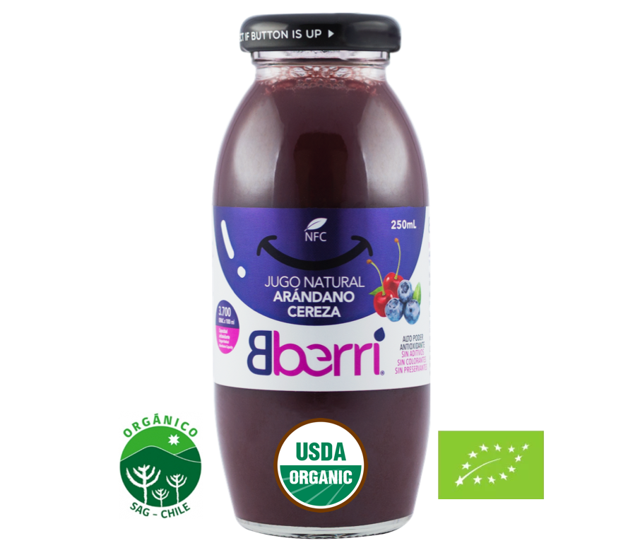 原榨有机蓝莓樱桃汁(12瓶/箱)