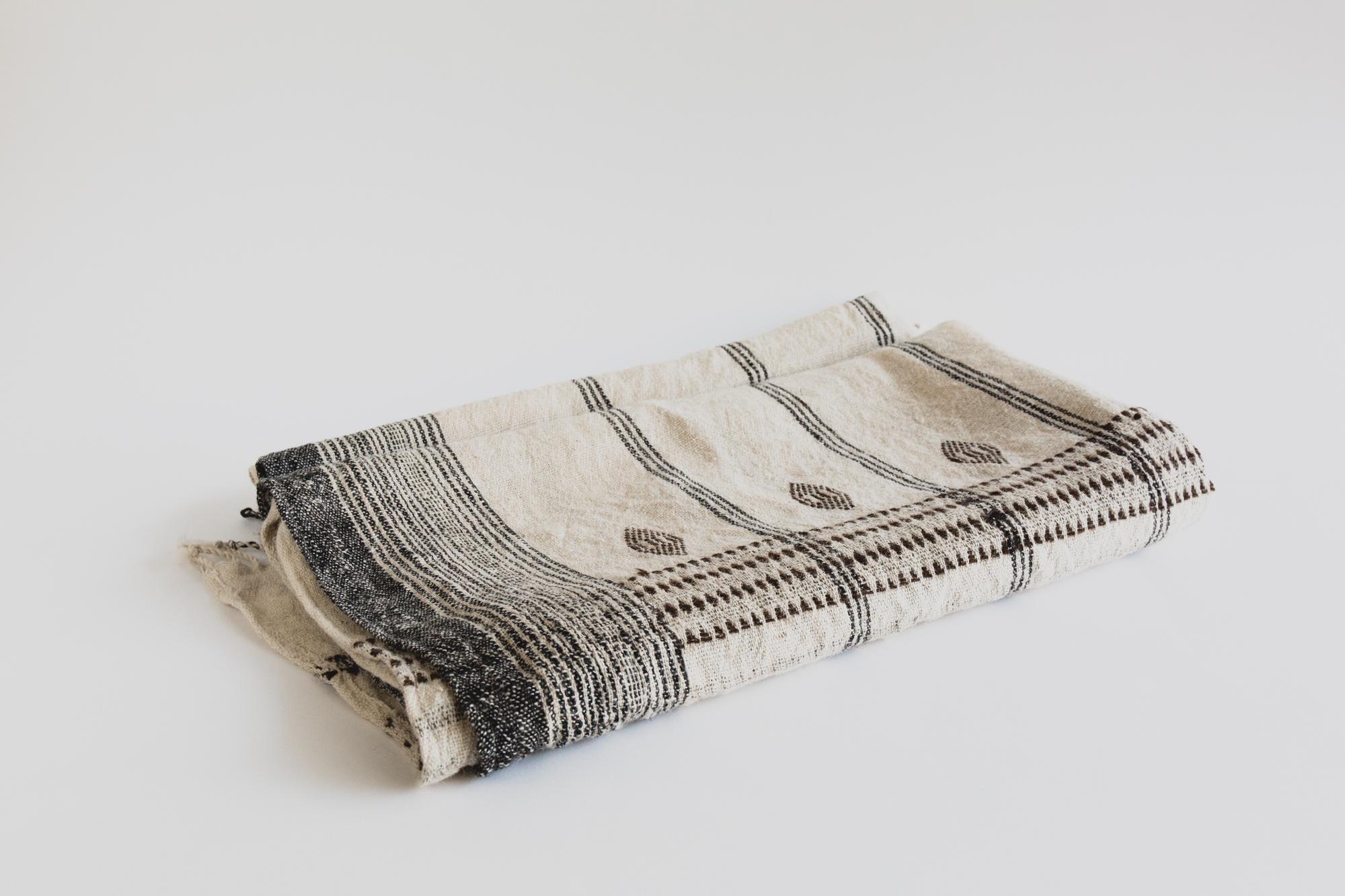 Indian Wool Blanket Cream
