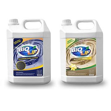Pack Shampoo auto + silicona líquida