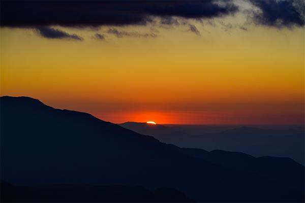 Puesta de sol en La Parva