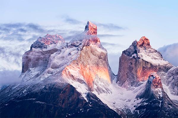 Detalle cuernos del Paine