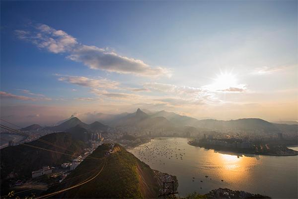 Puesta de sol en Río