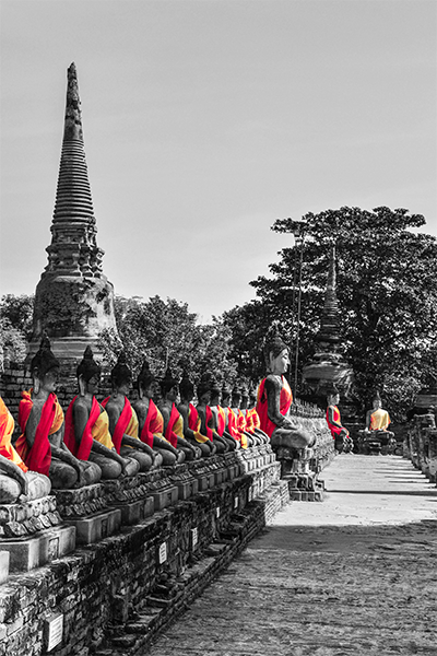 Budas en Ayutthaya