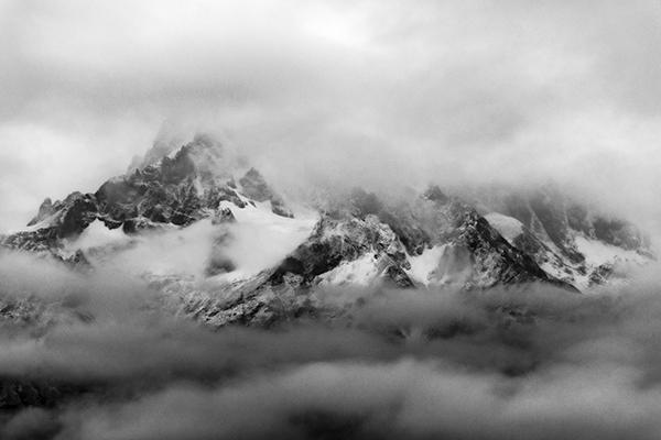 Macizo Paine entre Niebla