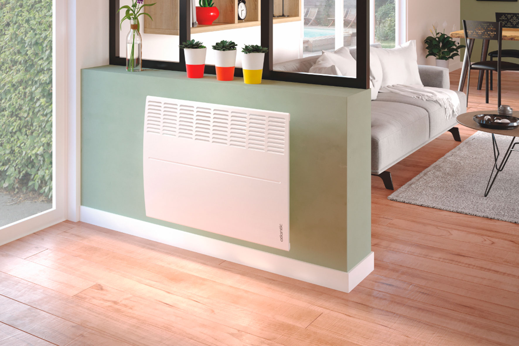 Atlantic electric heating available in Bosca | An efficient, comfortable and safe system 🇫🇷