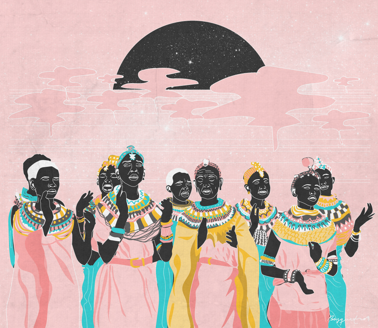 Print Ancestral African Voice
