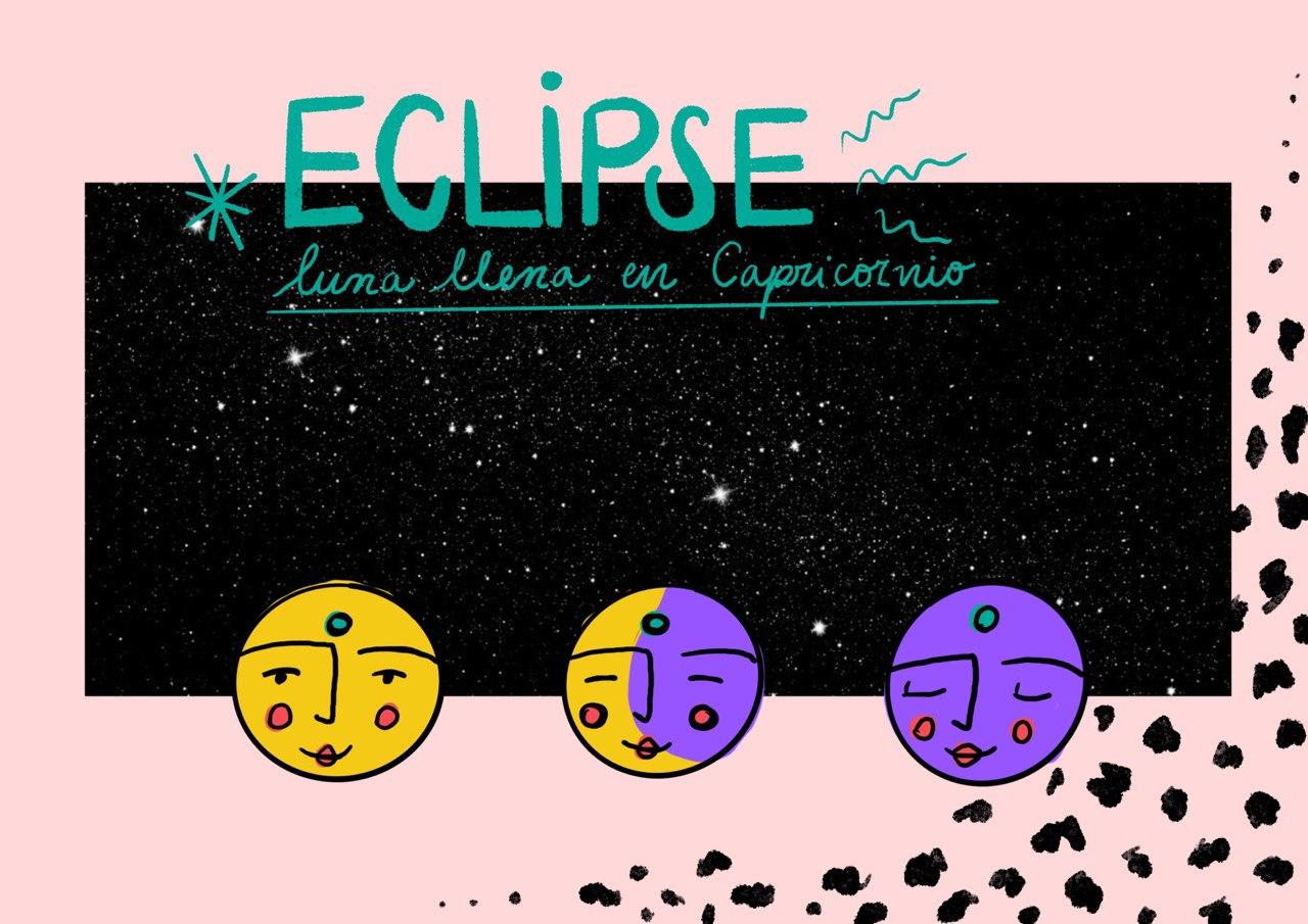 Eclipse y Luna llena en Capricornio