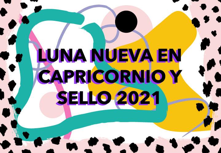 LUNA NUEVA EN CAPRICORNIO Y SELLO 2021