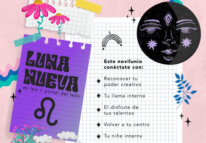 LUNA NUEVA EN LEO 2021 + PORTAL DEL LEÓN