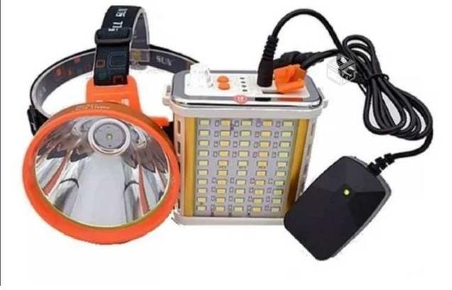 Foco Led de luz blanca para caza, es recargable 800 watts