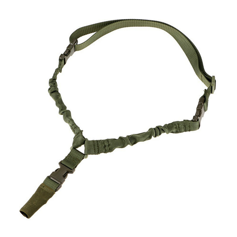Correa Tactica de 1 punta metalica verde
